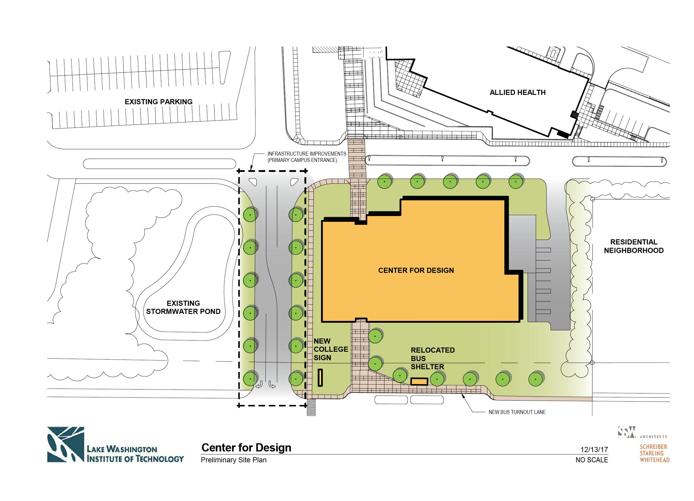 Center for Design Preliminary Footprint