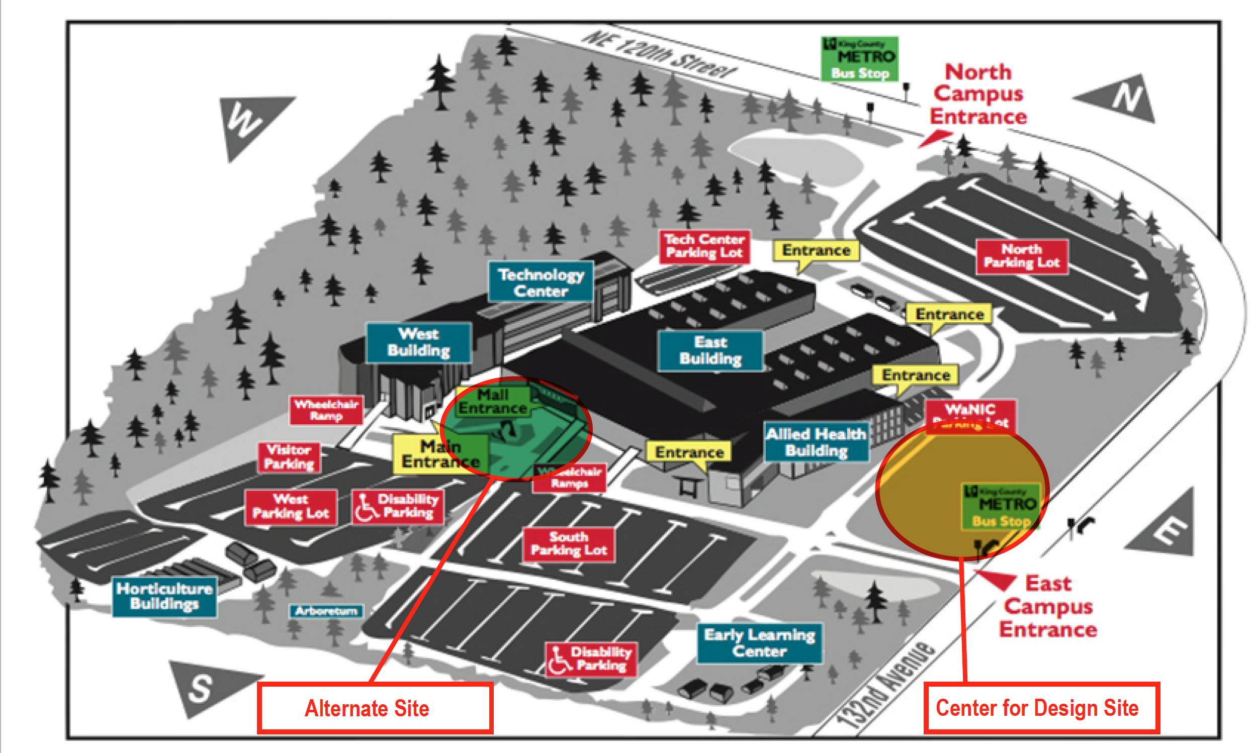 Center for Design Location on Campus Map