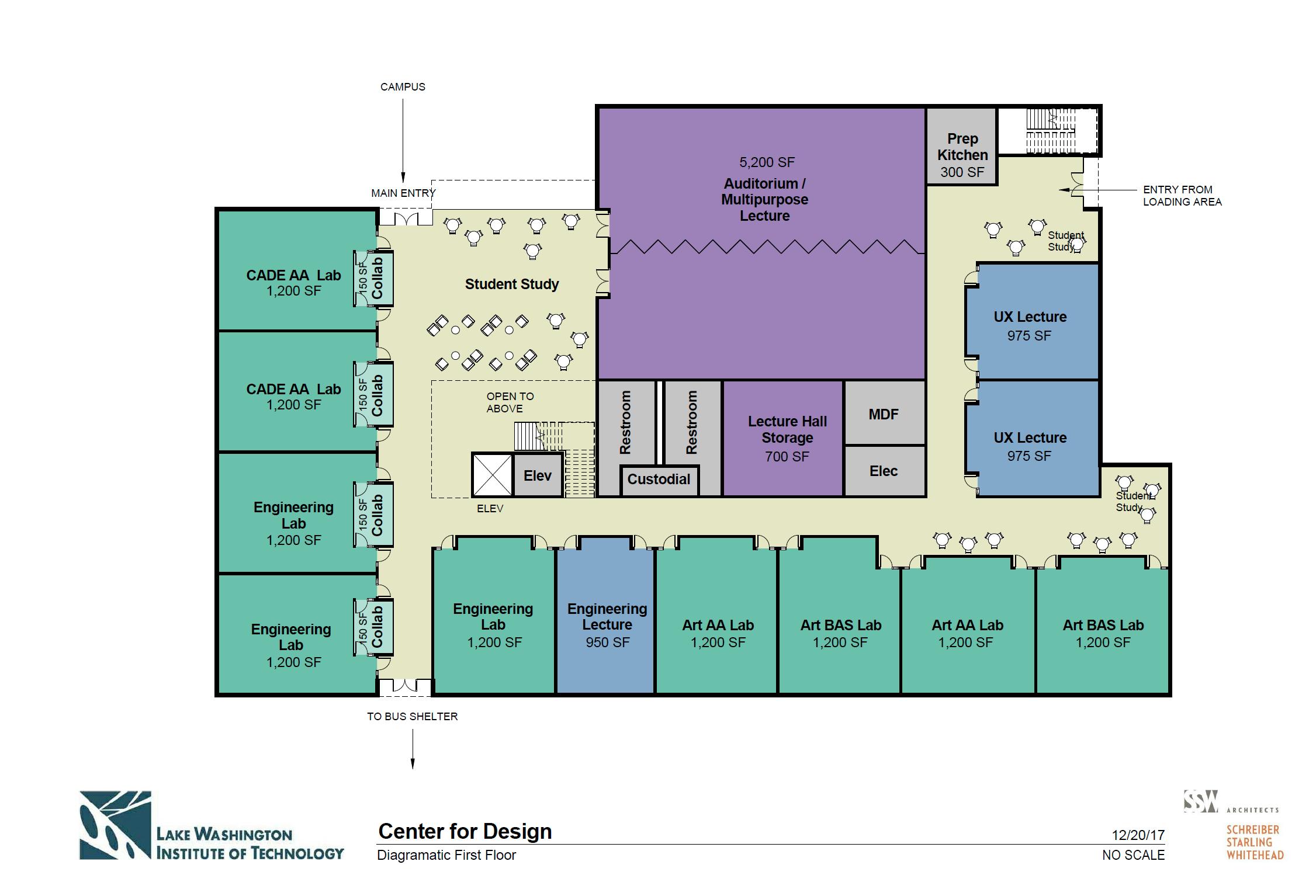 Center for Design First Floor Diagram
