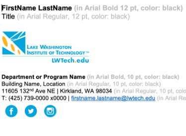 LWTech email signature screenshot