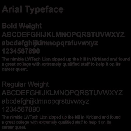 Typefaces/Fonts | Lake Washington Institute of Technology