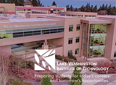 LWTech Communications & Marketing Brand Guidelines - aerial shot of the LWTech Allied Health Building with LWTech logo and mission statement: Preparing students for today's careers and tomorrow's opportunities