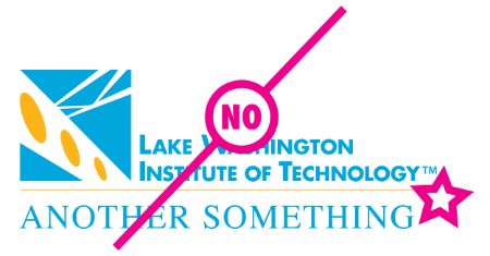 "Example of logo with custom another something with a ""no"" text layed over the logoh"