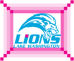 LWTech Lions logo distance layout example