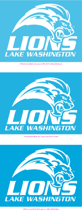 LWTech Lions acceptable logo color variations