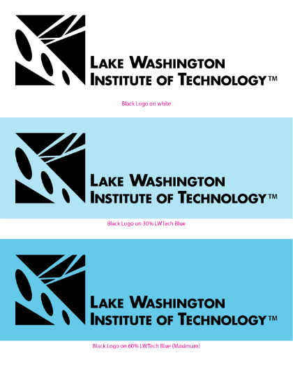 LWTech acceptable logo color variations