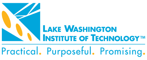 LWTech logo with statement mark