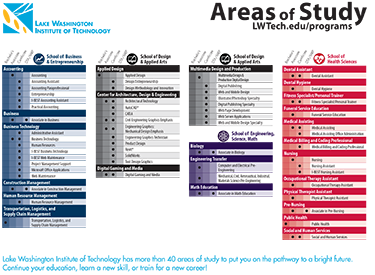LWTech Areas of Study Brochure