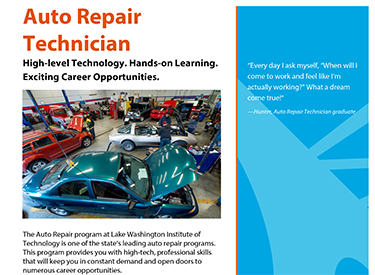 LWTech Auto Repair Program Flyer
