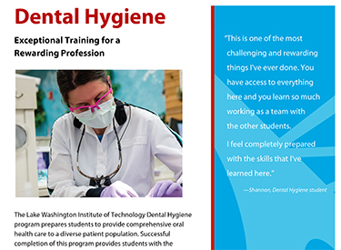 LWTech Dental Hygiene Program Flyer