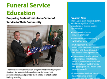 LWTech Funeral Services Program Flyer