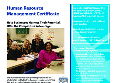 LWTech HR Management Program Flyer