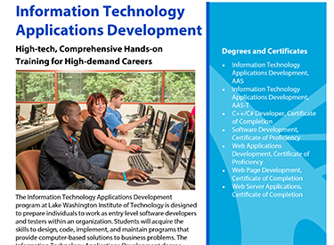 LWTech ITAD Program Flyer