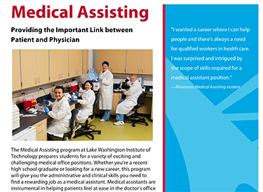 LWTech Medical Assisting Program Flyer