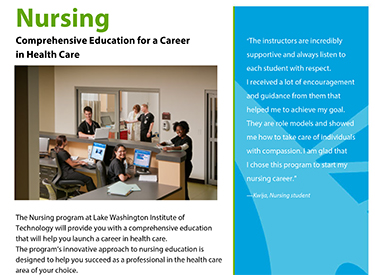 LWTech Nursing Program Flyer