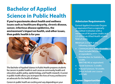 LWTech Public Health Program Flyer