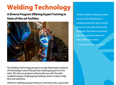 LWTech Welding Program Flyer