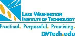 LWTech Logo: Lake Washington Institte of Technology | Practical. Purposeful. Promising | LWTech.edu