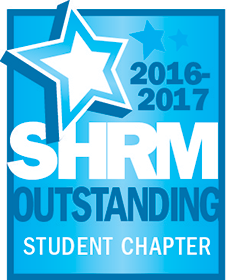 SHRM Outstanding Student Chaper 2016-2017 award badge