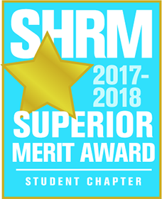 SHRM Outstanding Student Chaper 2017-2018 award badge
