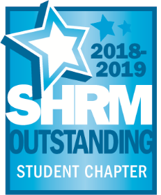 SHRM Outstanding Student Chaper 2018-2019 award badge