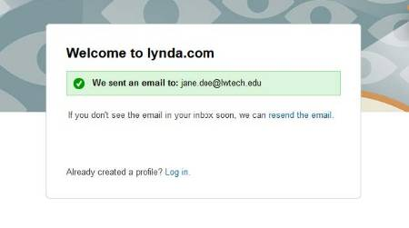 Welcome to lynda.com screenshot