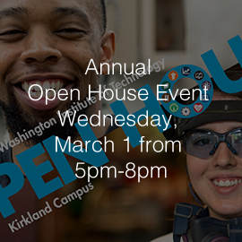 Lake Washington Institute of Technology to Hold Annual Open House Event Wednesday, March 1 from 5pm-8pm