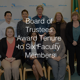 Lake Washington Institute of Technology Board of Trustees Award Tenure to Six Faculty Members