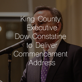 King County Executive Dow Constantine to Deliver  Lake Washington Institute of Technology Commencement Address