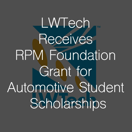 Lake Washington Institute of Technology Receives RPM Foundation Grant for Automotive Student Scholarships