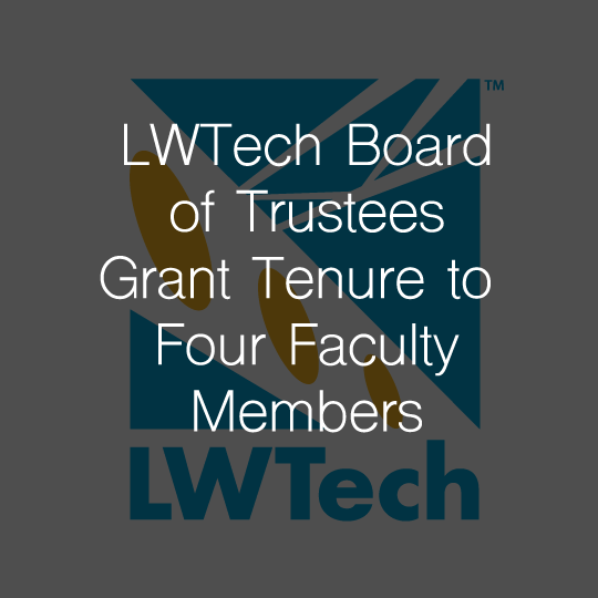 Lake Washington Institute of Technology Board of Trustees Grant Tenure to Four Faculty Members