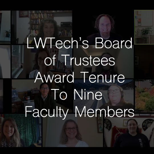 Lake Washington Institute of Technology Board of Trustees Award Tenure To Nine Faculty Members