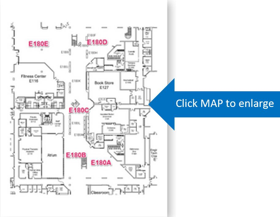 Image of map of East Mall in 25Live